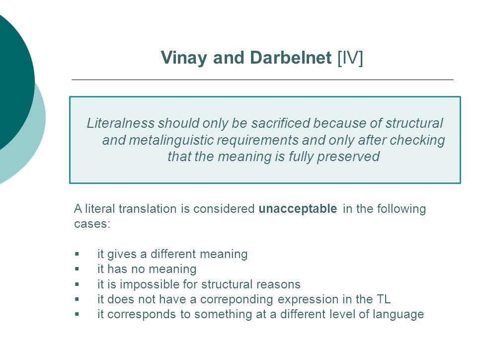 Vinay and Darbelnet [IV]